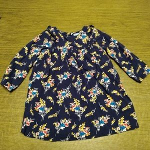 Baby Gap navy floral dress